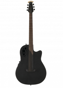 OVATION DS778TX-5 Elite T Mid Cutaway D-Scale Black Textured электроакустическая гитара