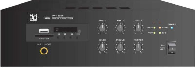 Direct Power Technology PA-M120BR микшер/усилитель 120 Вт (70V/100V, 4-16Ом), MP3/TUNER, Bluetooth