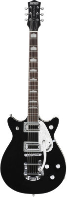 Gretsch G5445T Double Jet™ with Bigsby®, Rosewood Fingerboard, Black электрогитара