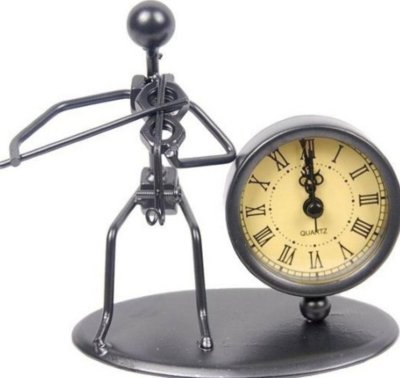 GEWA Sculpture Clock Violin часы-скульптура сувенирные скрипач металл 12x6.5x13 см
