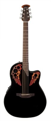 Ovation CE44-5 Celebrity Elite Mid Cutaway Black электроакустическая гитара