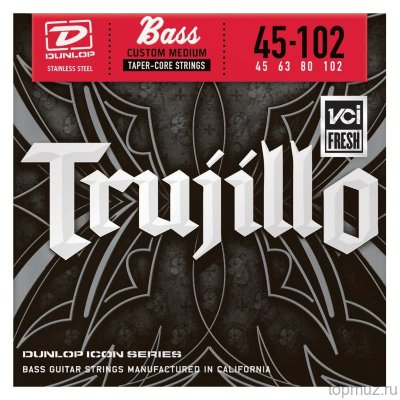 DUNLOP RTT Robert Trujillo Icon Medium - SS With Taper Core 45-102T струны для 4-струнной бас-гитары
