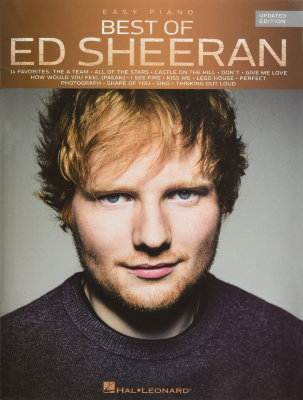 HL00236098 SHEERAN ED BEST OF UPDATED EDITION FOR EASY PIANO BOOK