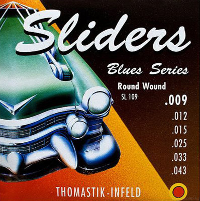 THOMASTIK Sliders Blues SL109 струны для электрогитары 9-43