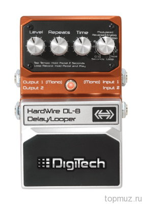 Педаль DIGITECH DL-8 Stereo Delay/Looper для электрогитары