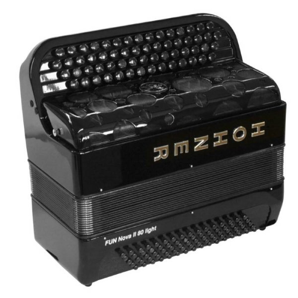 HOHNER Fun Nova II 80 light black (C-Stepped) 3/4 баян