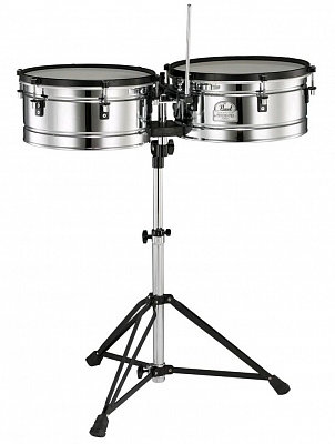 "PEARL PTE-1415DX-Primero Pro Timbales стальные тимбалес 14"", 15"""