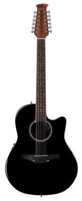 APPLAUSE AB2412II-5 Balladeer Mid Cutaway Black 12-струнная электроакустическая гитара