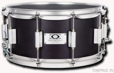 "DrumCraft Series 8 Electric Black Satin Chrome HW Maple 14x6,5"" малый барабан"