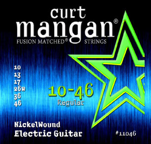 CURT MANGAN 10-46 Nickel Wound Set струны для электрогитары