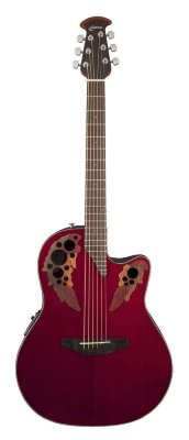 Ovation CE44-RR Celebrity Elite Mid Cutaway Ruby Red электроакустическая гитара