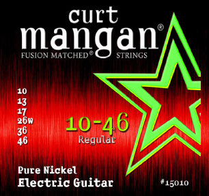 CURT MANGAN 10-46 Pure Nickel Wound Set струны для электрогитары