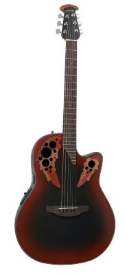 Ovation CE44-RRB Celebrity Elite Mid Cutaway Reversed Redburst электроакустическая гитара