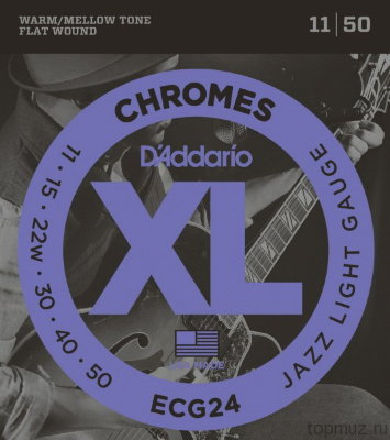 D'ADDARIO ECG24 Jazz Light 11-50 струны для электрогитары